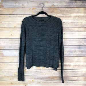 rag & bone jeans crewneck sweater in spacedye gray